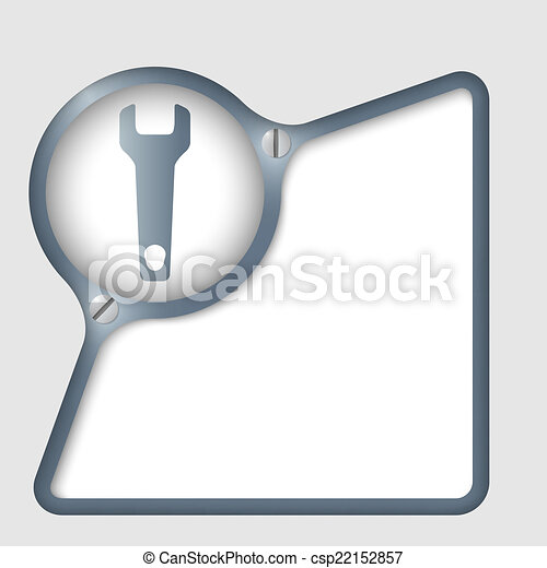 vector abstract frame with screws and spanner - csp22152857