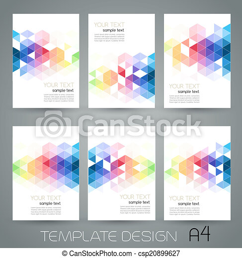 Vector abstract geometric banner with triangle - csp20899627
