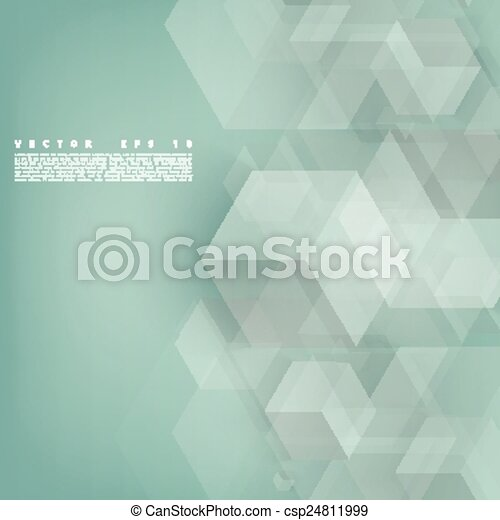 Vector Abstract geometric shape from gray cubes.  - csp24811999