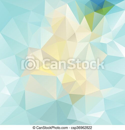 19a632c2 vector abstract irregular polygon background with a triangular pattern in  bright icy blue colors - csp36962822
