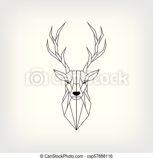 Vector. abstract polygonal the head of a deer. geometric ...