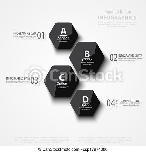 Vector abstract polygons background illustration, infographic template with place for your content - csp17974886