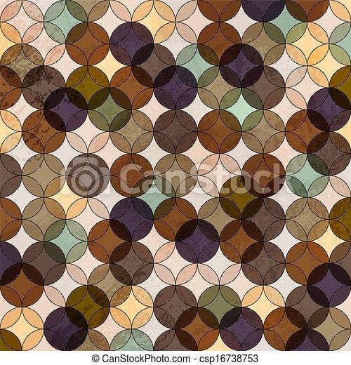 Vector abstract retro mosaic background - csp16738753
