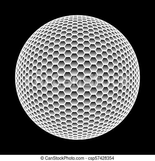 vector abstract sphere made of hexagons isolated on black background. vector  abstract sphere made of hexagons isolated on | canstock  can stock photo