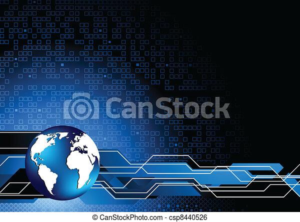 Vector abstract tech background - csp8440526