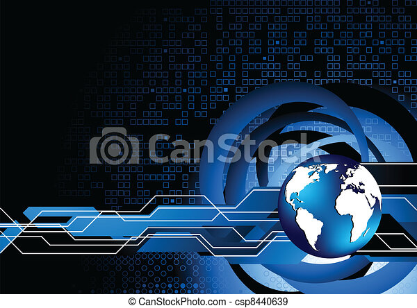 Vector abstract tech background - csp8440639