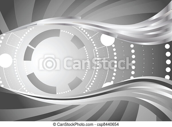 Vector abstract tech  background - csp8440654