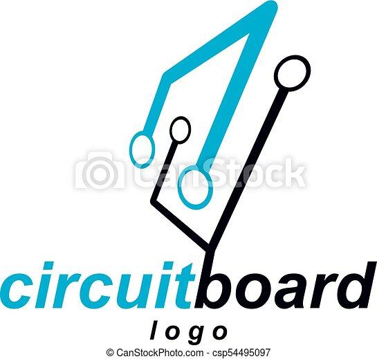 Vector abstract technology circuit board. high tech digital... eps ...