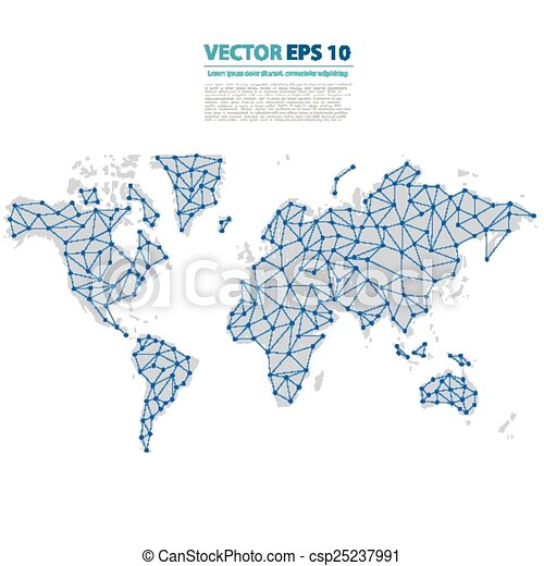 Vector abstract telecommunication earth map world map eps vector abstract telecommunication earth map gumiabroncs Gallery