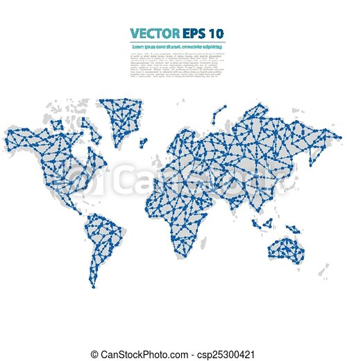 Vector abstract telecommunication earth map world map vector vector abstract telecommunication earth map gumiabroncs Images