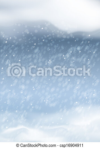 Vector Abstract Winter Snowfall Background - csp16904911