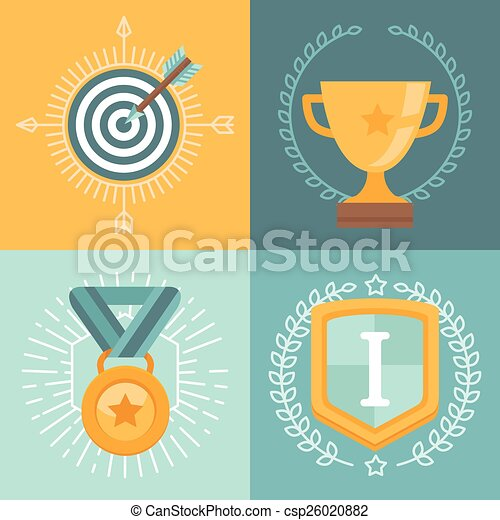 Vector achievement badges  - csp26020882