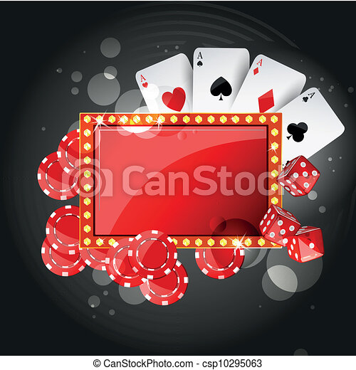 vector, achtergrond, casino - csp10295063