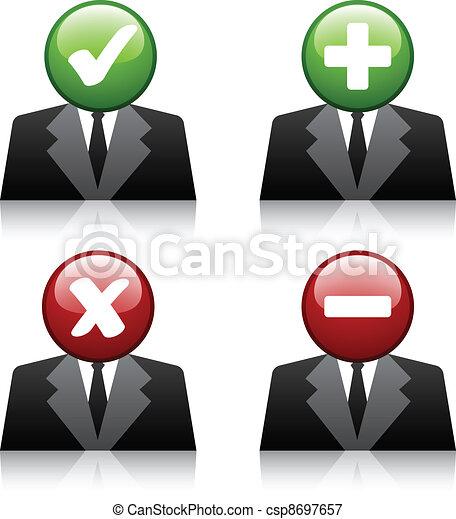 vector add delete professional user icons - csp8697657