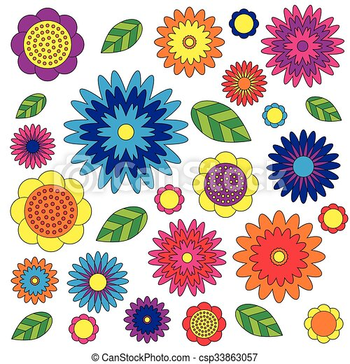 Vector Adult Coloring Book Page Irregular Floral Pattern Colored Colorful