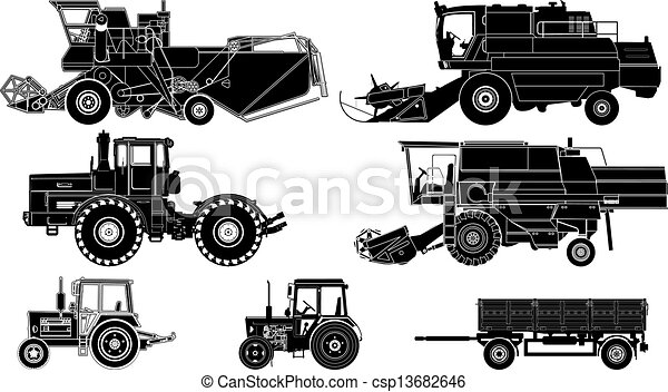 Vector Agricultural Vehicles - csp13682646