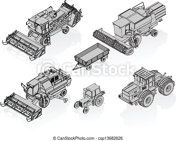 Vector Agricultural Vehicles - csp13682626