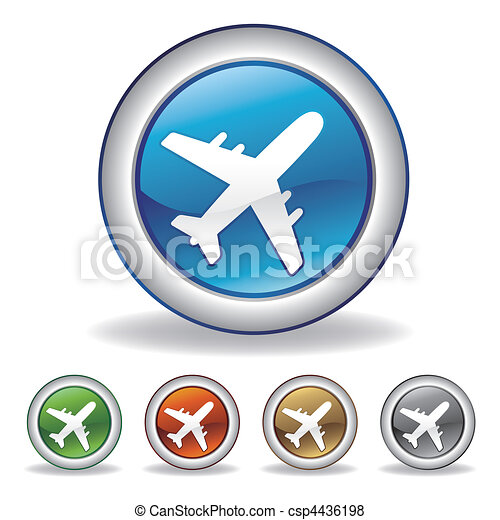 vector airplane icon - csp4436198