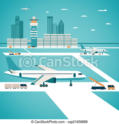 Vector airport concept - csp21656888