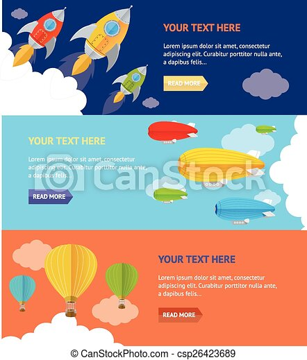 Vector airship option banner - csp26423689