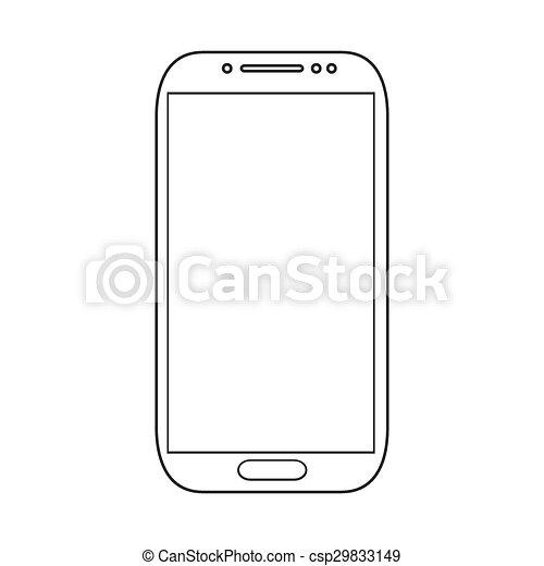 Los smartphones modernos están aislados en blanco - csp29833149