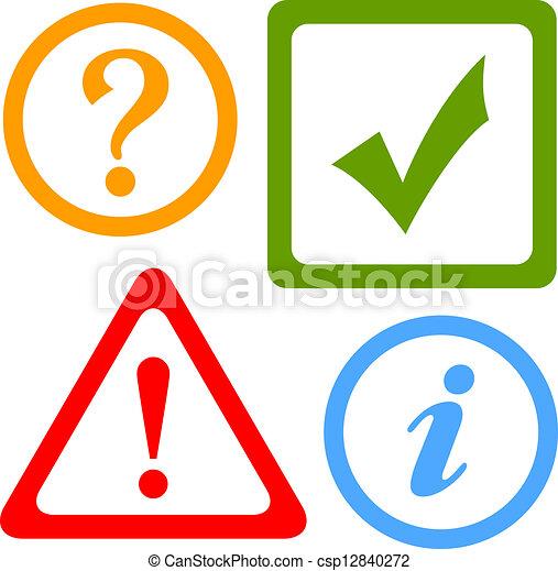 iconos de alerta vector - csp12840272