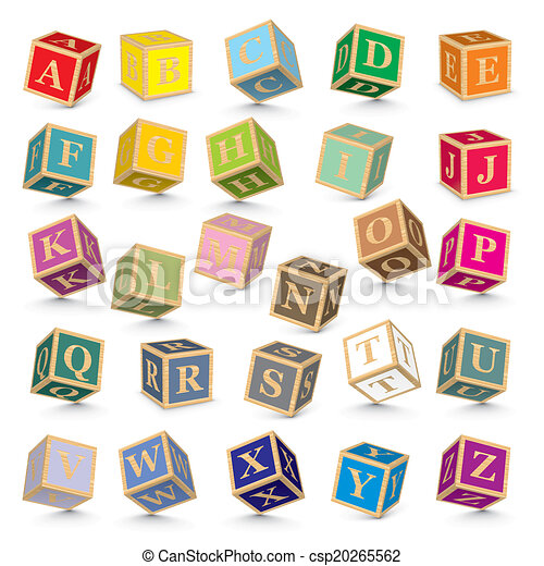 Vector alphabet blocks - csp20265562