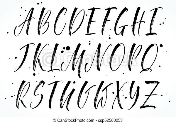 Vector Alphabet  Brush Lettering