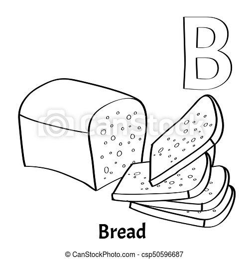 30+ Bread Coloring Page