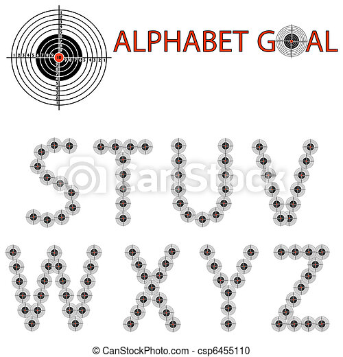 Vector alphabet of the target, hit the target - csp6455110