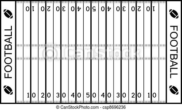 vector american football field - csp8696236