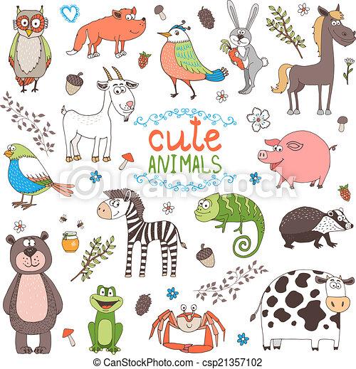 vector animals - csp21357102