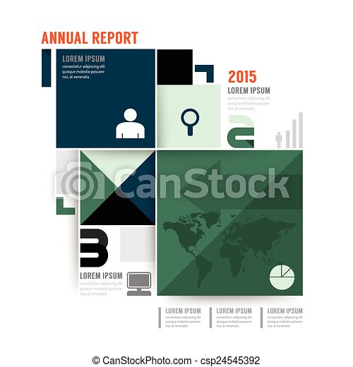 Vector Annual Report Brochure Flyer Magazine Cover Design  Eps
