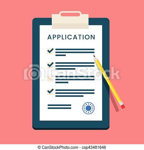 vector-application-form-eps-vector_csp43481646 Online Survey Form Filling Job on