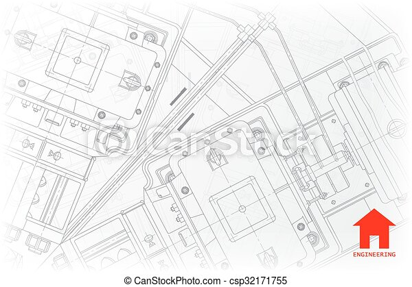 Vector architect background vector technical blueprint of vector architect background malvernweather Gallery