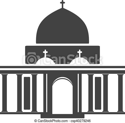 Vector Architecture Building Symbol Historical Building Black Icon