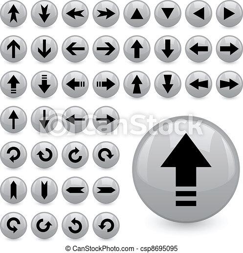 vector arrow buttons - csp8695095