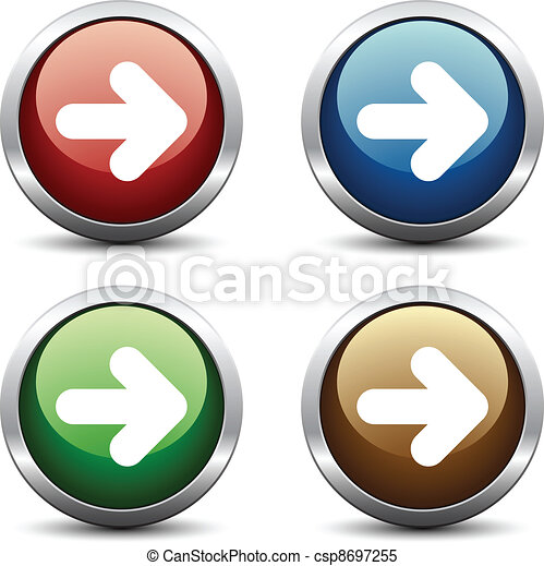 Vector arrow buttons - csp8697255