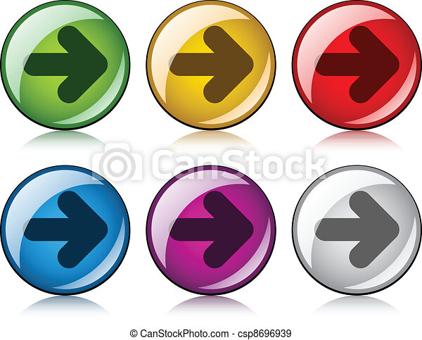 vector arrow buttons - csp8696939