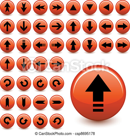 vector arrow buttons - csp8695178