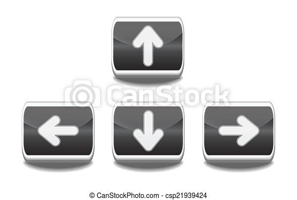 Vector arrow buttons - csp21939424