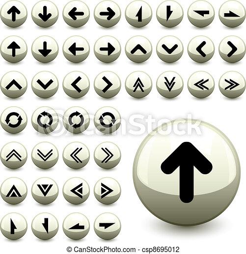 vector arrow buttons - csp8695012