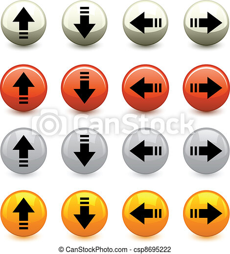 vector arrow buttons - csp8695222