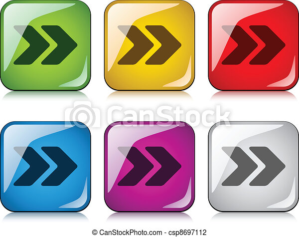 vector arrow buttons - csp8697112