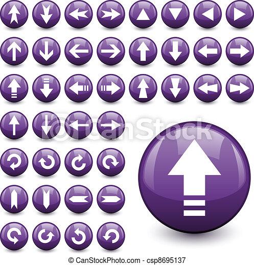 vector arrow buttons - csp8695137