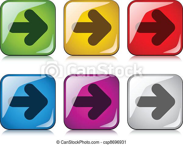 vector arrow buttons - csp8696931