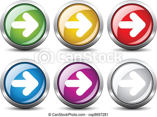 Vector arrow buttons - csp8697281