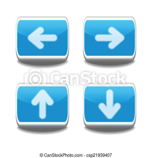 Vector arrow buttons - csp21939407