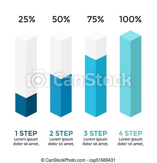 Vector arrows infographic, diagram chart, 3d column graph ...