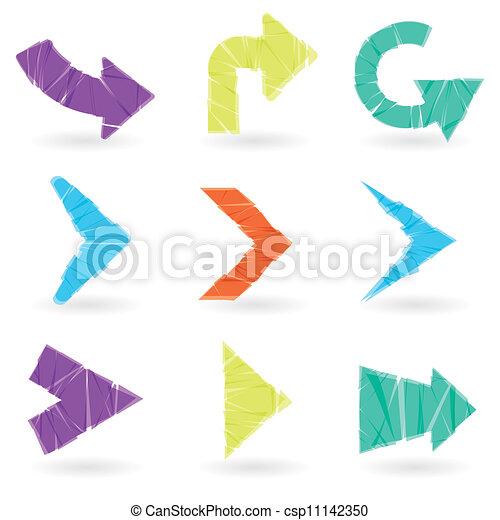 vector arrows set - csp11142350
